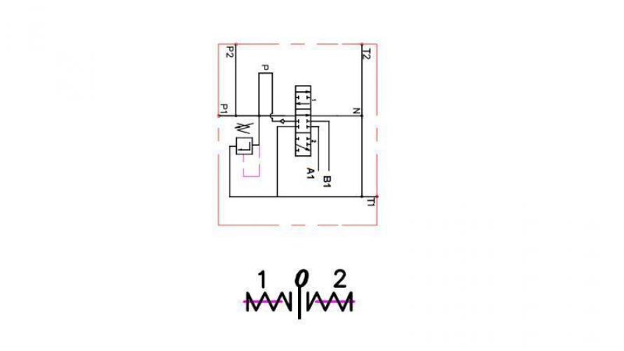 Kézi vezérlésű 1xP40 +1 irányba reteszelhető B1