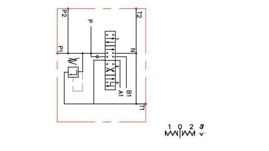 Kézi vezérlésű 1xP80 +1 irányba reteszelhető