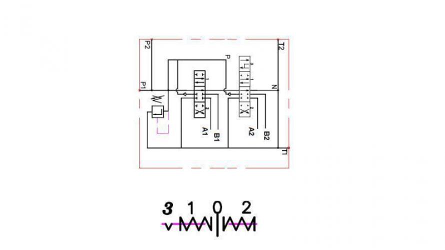 Kézi vezérlésű 3 állású 2xP40