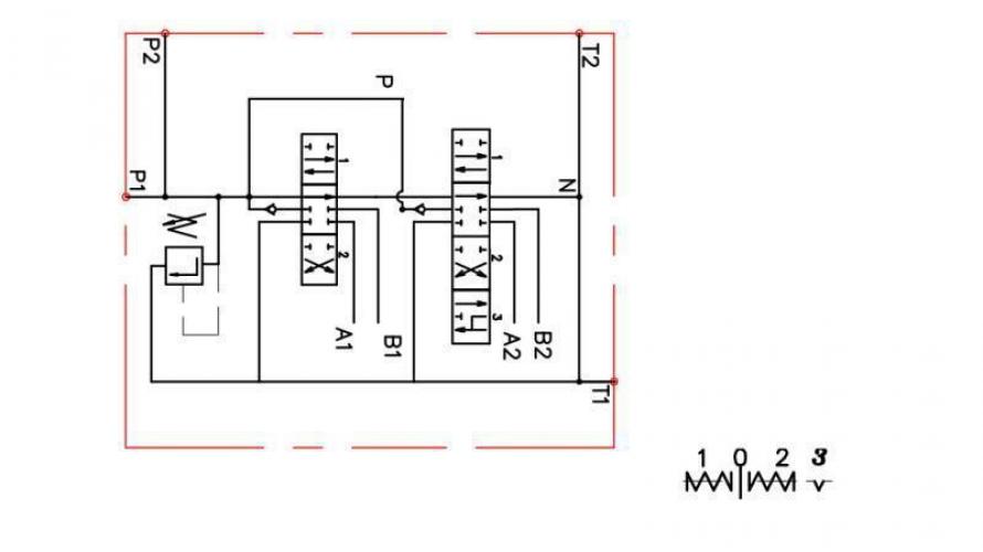 Kézi vezérlésű 2xP80 +1 irányba reteszelhető