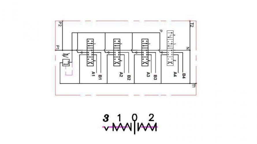 Kézi vezérlésű 3 állású 4xP40